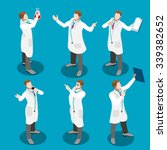 clinic doctor researcher team... | Shutterstock .eps vector #339382652