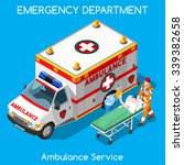accident ambulance aid service... | Shutterstock .eps vector #339382658