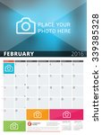 wall calendar planner for 2016... | Shutterstock .eps vector #339385328