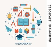 set of education icons   eps10...   Shutterstock .eps vector #339390932