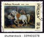 poland   circa 1997  a stamp... | Shutterstock . vector #339401078