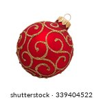 Red Christmas Ball  Isolated O...