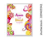 bright save the date background ... | Shutterstock .eps vector #339405542