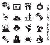 global warming   disaster  ...   Shutterstock .eps vector #339407042