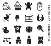 baby icons set  | Shutterstock .eps vector #339407066