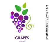 grapes icon. grapes wine or... | Shutterstock .eps vector #339414575