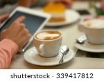 woman taking photo of food in... | Shutterstock . vector #339417812