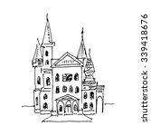 old castle. vector illustration ... | Shutterstock .eps vector #339418676