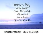 Inspirational Quote On Blurred...
