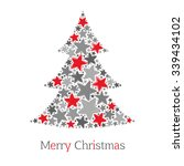 abstract christmas tree made of ... | Shutterstock .eps vector #339434102