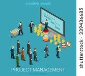 project management business... | Shutterstock .eps vector #339436685