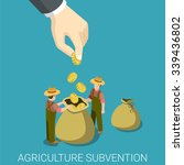 agriculture subvention farming... | Shutterstock .eps vector #339436802