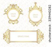 vector set decorative frame.... | Shutterstock .eps vector #339440282