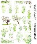 spring green floral design... | Shutterstock .eps vector #339446246