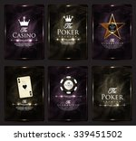casino card design collection... | Shutterstock .eps vector #339451502