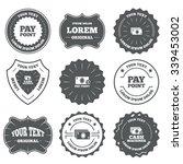 vintage emblems  labels. cash... | Shutterstock . vector #339453002