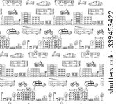 seamless pattern with hand... | Shutterstock .eps vector #339453422