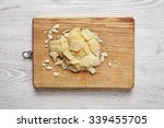 parmesan sliced  isolated on... | Shutterstock . vector #339455705