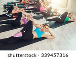 group of fit healthy young... | Shutterstock . vector #339457316