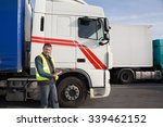logistics   proud driver or... | Shutterstock . vector #339462152