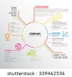 vector company infographic... | Shutterstock .eps vector #339462536