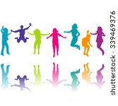 set of colorful children... | Shutterstock .eps vector #339469376