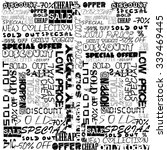 background typography with sale ... | Shutterstock . vector #339469445