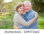 happy senior mature couple in... | Shutterstock . vector #339471662