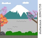 fuji and japan  | Shutterstock . vector #339471755