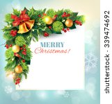 christmas background with... | Shutterstock .eps vector #339474692