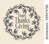 happy thanks giving. vector... | Shutterstock .eps vector #339474782