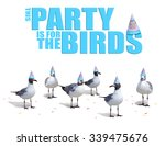 funny birthday card and party... | Shutterstock . vector #339475676