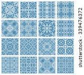 vector set of 16 seamless... | Shutterstock .eps vector #339476372