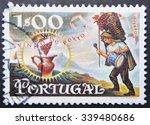 portugal   circa 1970  a stamp... | Shutterstock . vector #339480686