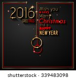 2016 happy new year and merry... | Shutterstock .eps vector #339483098