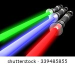 detail of three 3d light future ...   Shutterstock . vector #339485855