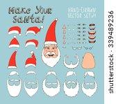 creation kit for santa claus... | Shutterstock .eps vector #339489236