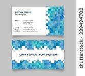 business card template  modern... | Shutterstock .eps vector #339494702