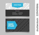 business card template  modern... | Shutterstock .eps vector #339494846