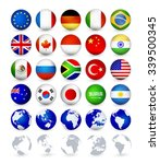g20 country flags web buttons... | Shutterstock .eps vector #339500345