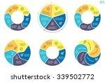 circular infographics. flat pie ... | Shutterstock .eps vector #339502772