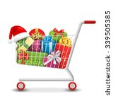 christmas sale colorful... | Shutterstock .eps vector #339505385