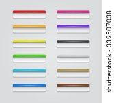 set of rectangle plastic... | Shutterstock .eps vector #339507038