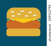 burger. burger icon on the blue ... | Shutterstock .eps vector #339512795