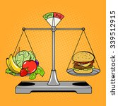 Balance Scales With Food Comic...
