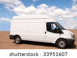 larger white trade van parked... | Shutterstock . vector #33951607