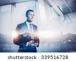 double exposure of city and... | Shutterstock . vector #339516728