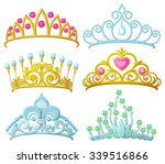 set of princess crowns  tiara ... | Shutterstock .eps vector #339516866