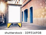 empty lightbox on the bus stop. ... | Shutterstock . vector #339516938