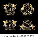 vector pegasus logo templates.... | Shutterstock .eps vector #339521492